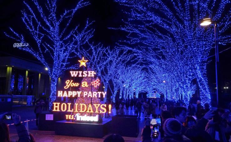 Iluminación navideña de ensueño en Tokio