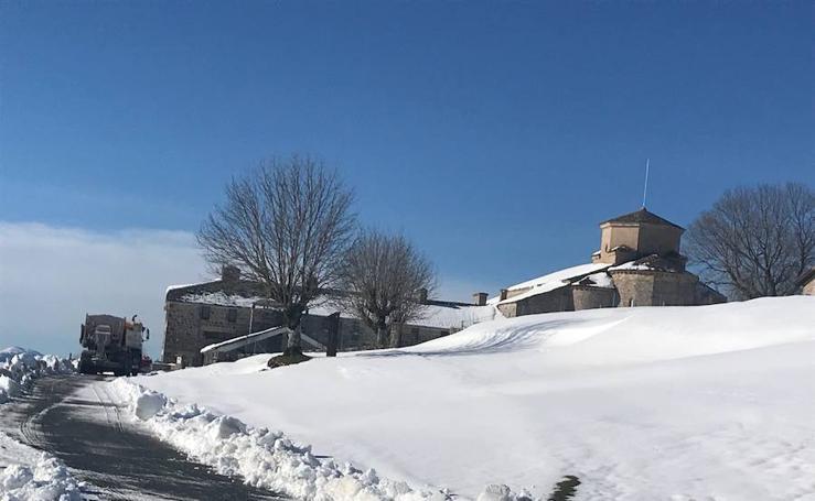 La belleza de Aralar bajo la nieve