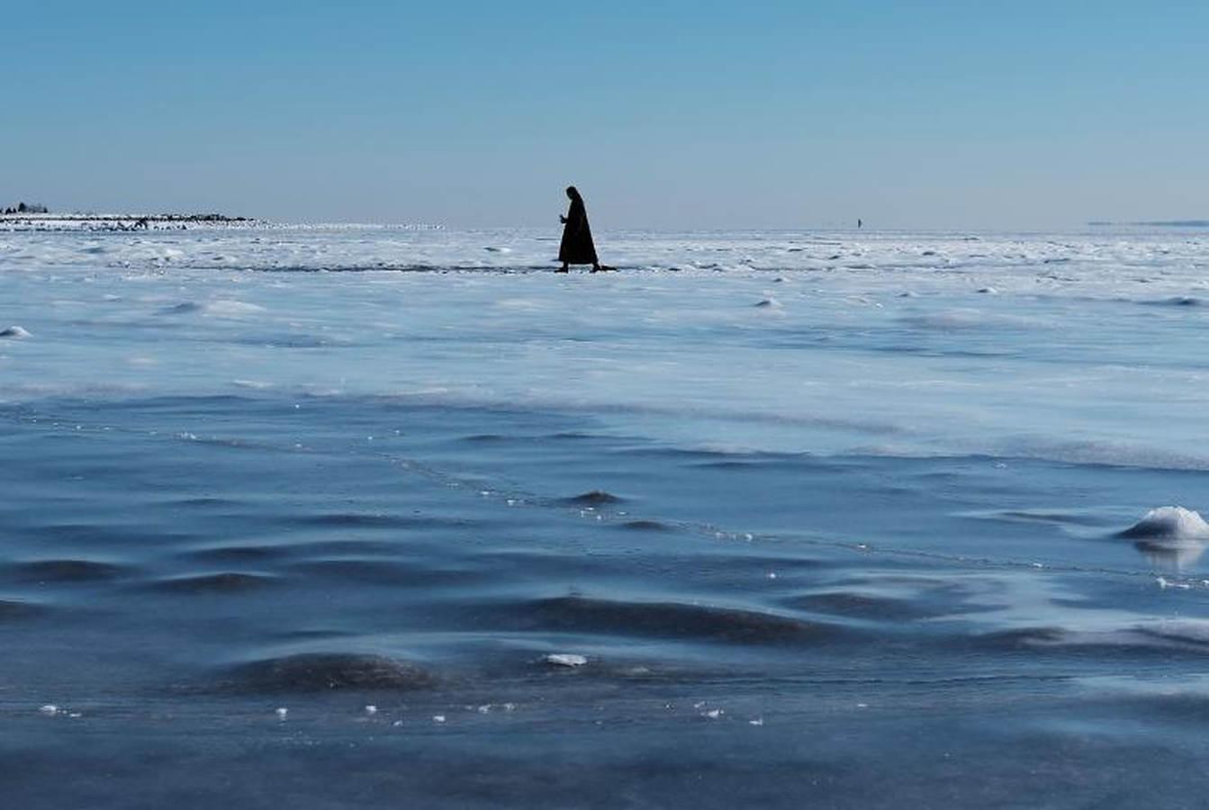 Una playa de hielo