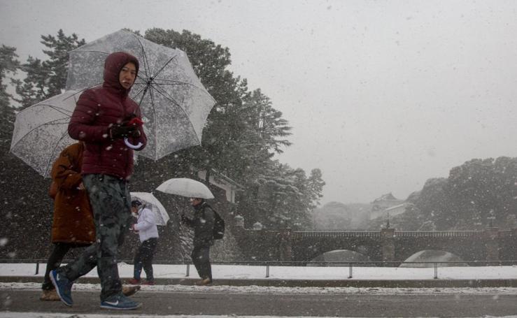 Activada la mayor alerta por nieve en cuatro años en Tokio