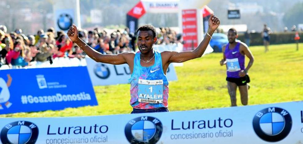 El bahrení Ayalew gana un emocionante cross de San Sebastián