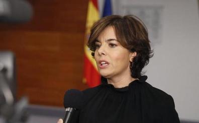 Sáenz de Santamaría acudirá a Donostia a la entrega del premio Ordóñez