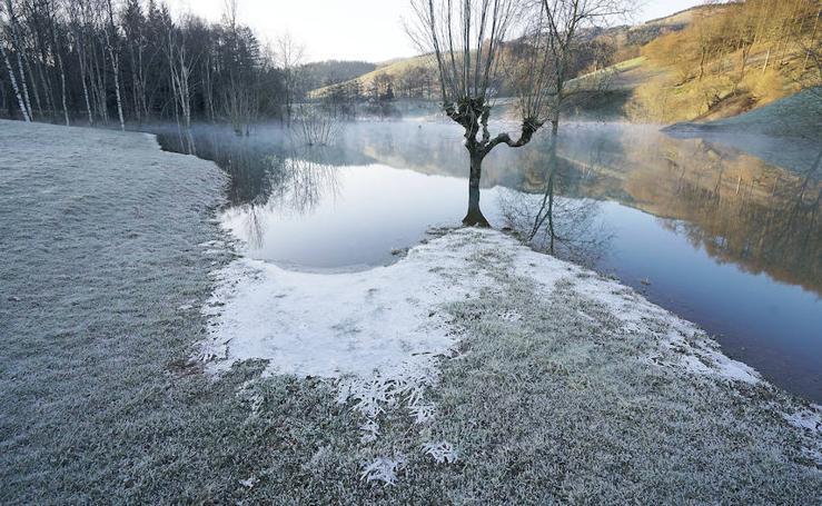 Temperaturas de hasta -8 grados en Berastegi