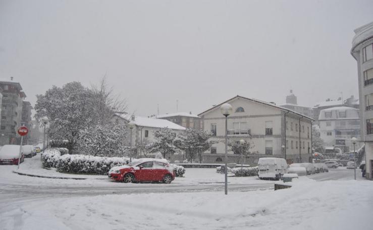 Gran nevada en Urnieta