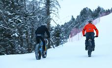 Las snowbikes de la nieve andorrana