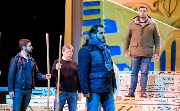 Ensayo de la ópera 'Aida' en Ficoba