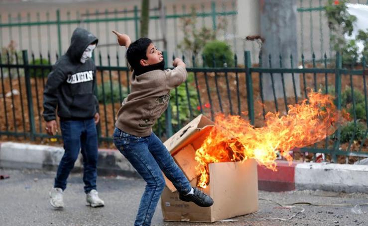 Disturbios en Palestina