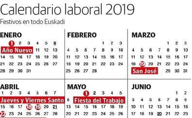 Calendario Laboral Donostia 2019.Calendario Laboral El Diario Vasco