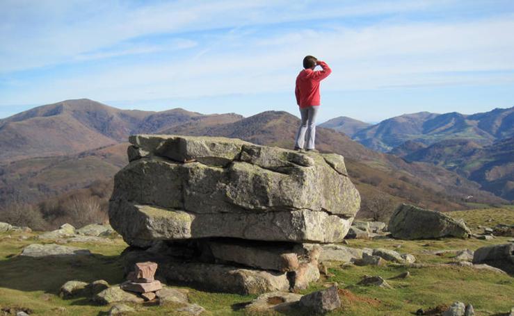 La roca que mece el viento en Elizondo