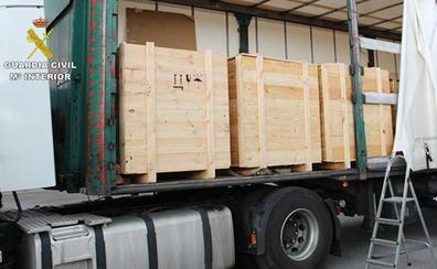 Detenido con 658 kilos de hachís un camionero de Bermeo en el peaje de Llodio