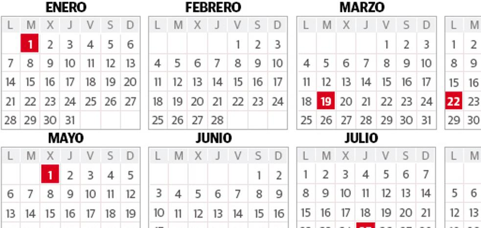 El calendario laboral 2019 en el País Vasco permite cinco puentes