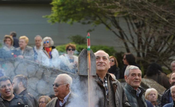 Bandera republicana en Eibar