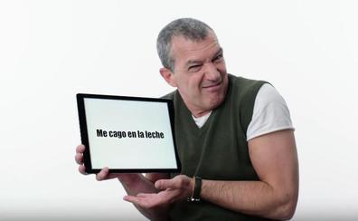 Antonio Banderas explica a los americanos lo que significan 'me cago en la leche' y otras jergas