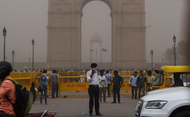 Tormenta de arena en Nueva Delhi