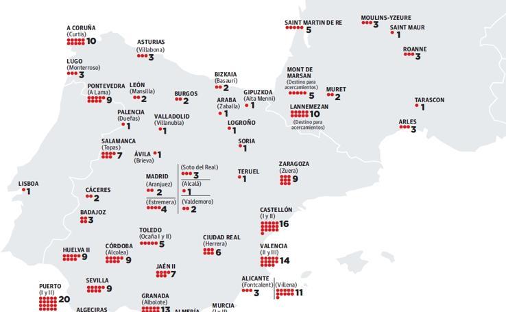 Los 282 presos de ETA