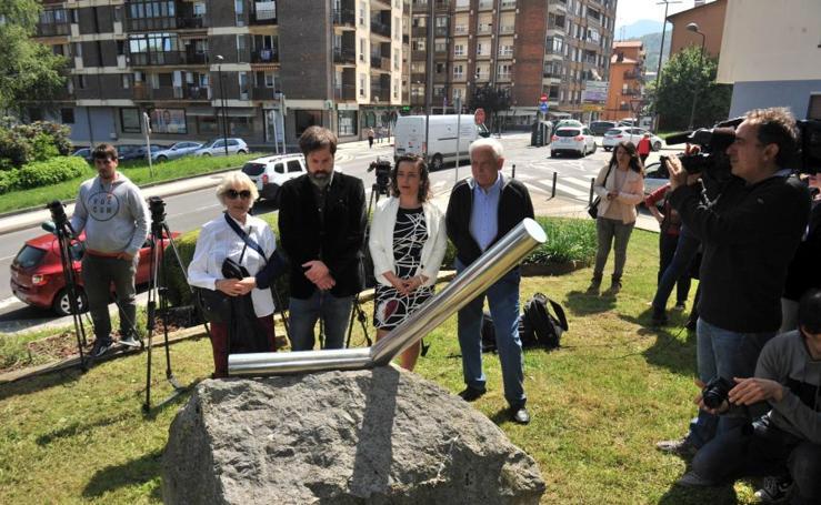 Homenaje a José Luis López de la Calle en Andoain