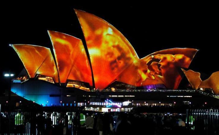 Juego de luces en Sidney