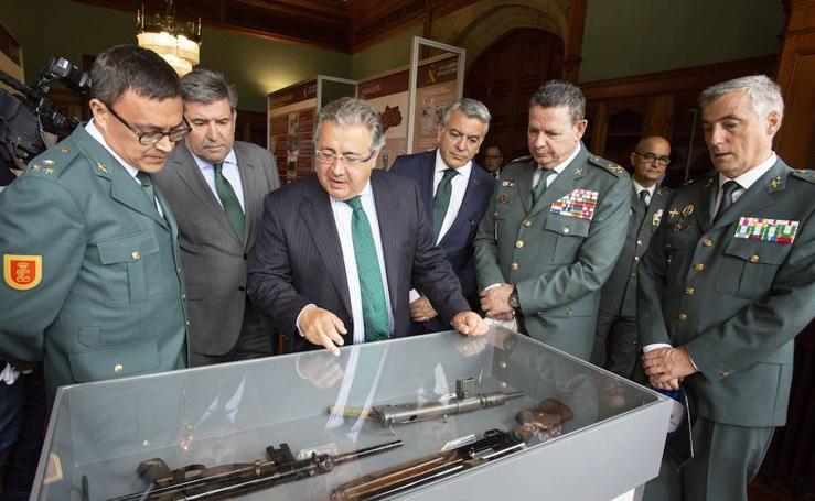 Exposición sobre la Guardia Civil frente al terrorismo, en el Palacio de Miramar