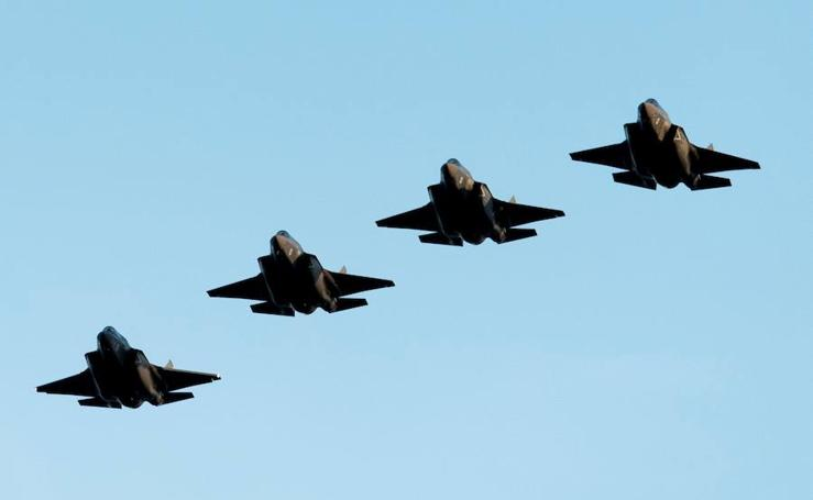 Los F35B se apoderan del cielo