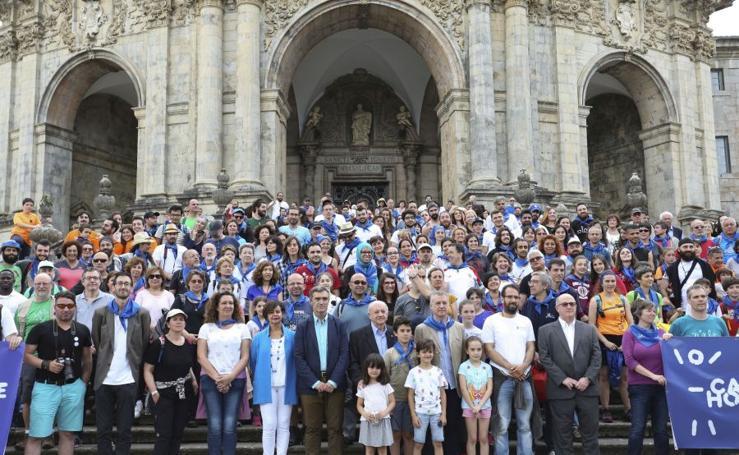 Refugiados en el Santuario de Loyola