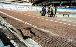 Las obras para sustituir la pista de atletismo del velódromo comenzarán el lunes
