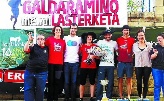 Ibai Makazaga y Alazne Irureta se llevan la X la Subida a Galdaramiño