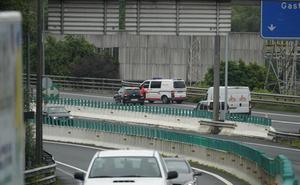 Abierta la A-15 en Andoain, sentido Pamplona, tras un accidente en el túnel de Berastegi