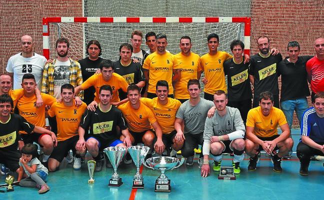 El equipo Keler, campeón de liga del Torneo de fútbol sala