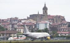 Más desvíos y cancelaciones en el aeropuerto de Hondarribia