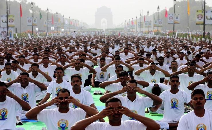 El Yoga exhibe su fuerza