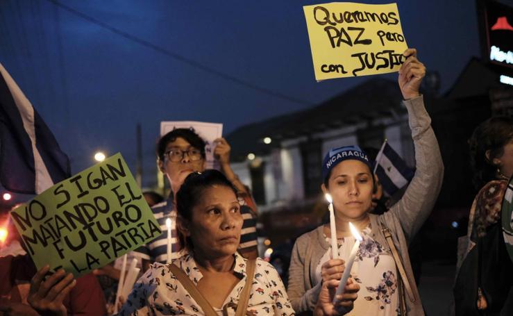 Dos meses de protestas en Nicaragua
