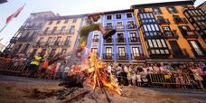 Hoguera de San Juan en Tolosa