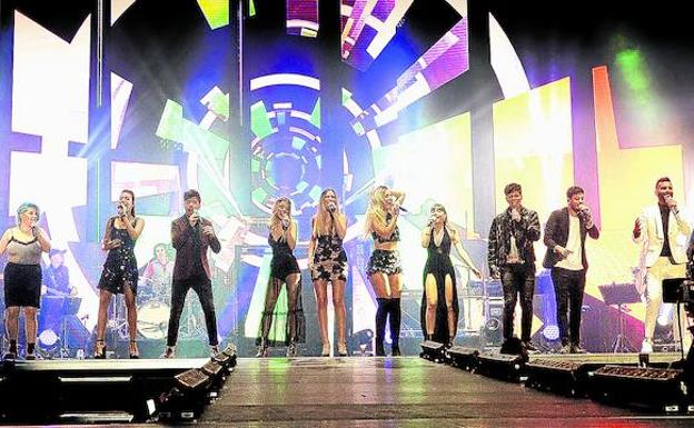Bilbao vibra con los cantantes de OT