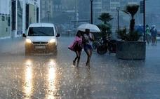 Mañana se activará un aviso amarillo por lluvia intensa y granizo