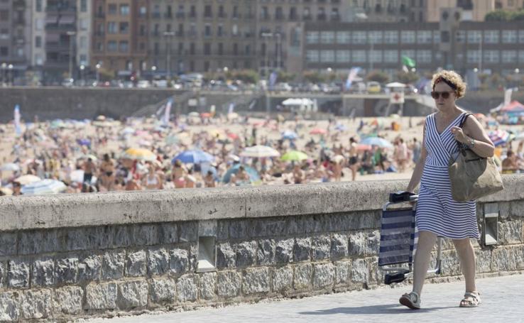Fin de semana de calor en Donostia