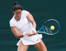 Lara Arruabarrena se despide de Wimbledon