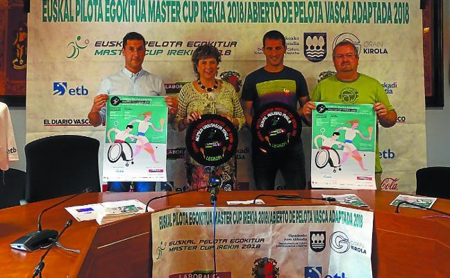 Legazpi acoge el domingo la final del primer campeonato de pelota vasca adaptada