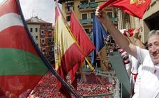 El Ayuntamiento de Pamplona colocará en el chupinazo un mastil vacío en lugar de la ikurriña