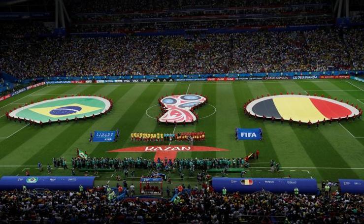El Brasil-Bélgica, en imágenes