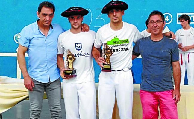 Markel Lizeaga y Xabi Santxo, ganadores del Torneo de Usurbil
