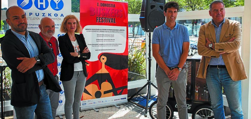 Los hosteleros impulsan el festival musical Donostia Buskers