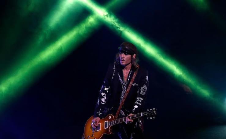 Concierto de Johnny Depp en Suiza