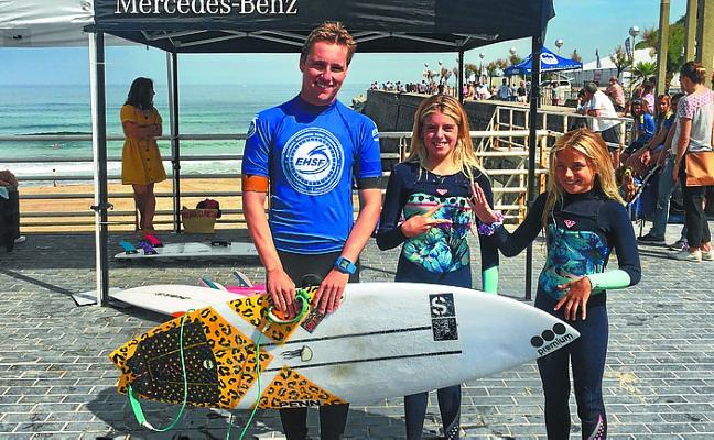 Letemendia y González-Etxabarri, campeones de Gipuzkoa de surf