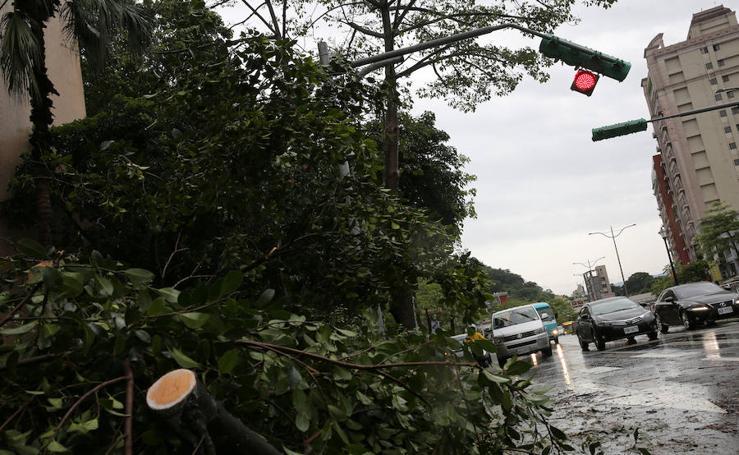 El tifón María arrasa en Taiwán