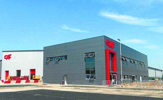 Puesta de largo de la planta de CAF en Gales con la visita del lehendakari Urkullu