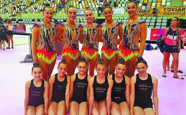 Un final de plata para las gimnastas sénior del Tolosa CF, en Zaragoza