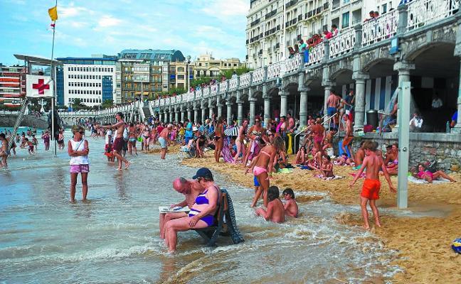 El cambio climático afectará a La Concha y Ondarreta