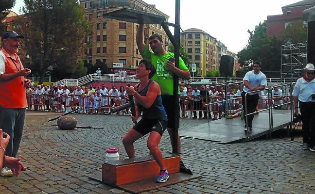 Xabier Urrutia, campeón navarro de levantamiento de carro
