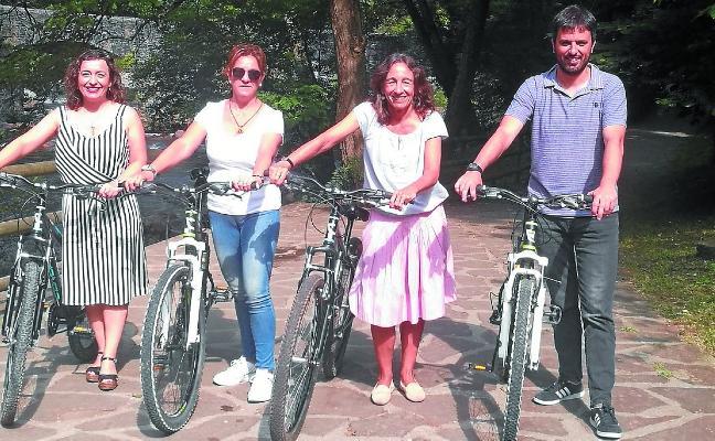 Gipuzkoa y Navarra proponen paseos guiados en bicicleta por la Vía Verde del Plazaola