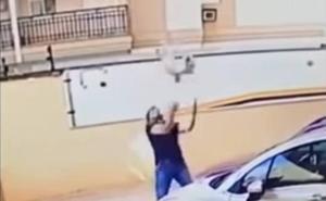 Un hombre salva a un perro de una caída de 9 pisos